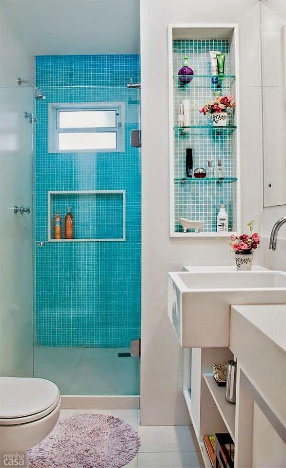 Novembro Azul – Banheiros  SABRINAMIXcom -> Banheiro Decorado Com Pastilha No Box