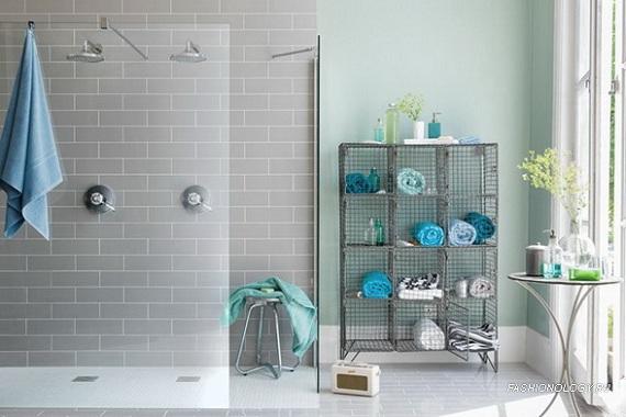 Novembro azul banheiros for Tiles for small bathrooms pictures