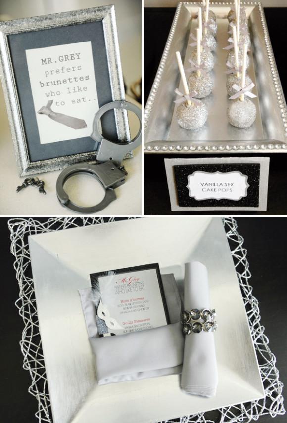 Juntamente com diversos tons de cinza, foram usados muitos objetos prateados em com glitter, o que trouxe muita feminilidade à decoração